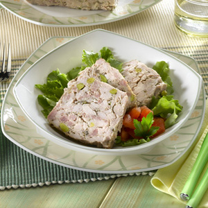 chicken terrine with pistachios country style chicken pâté flavored ...