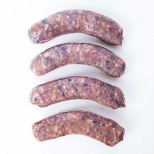 Venison sausage with cranberries