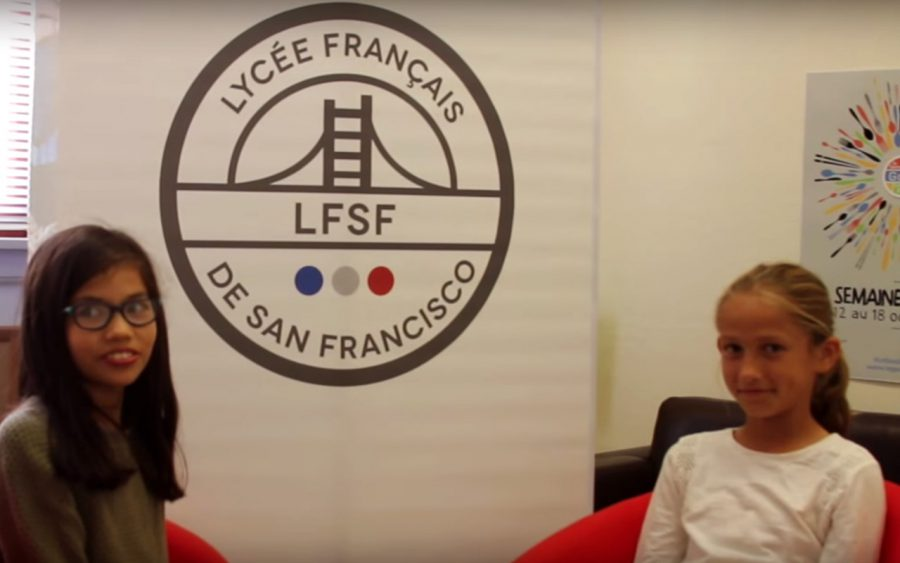 Meet Anna-Gaëlle and Eva-Marie, during La semaine du Goût at Le Lycée Français
