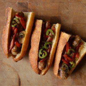Fabrique Delices Grilled Sausage Sandwich