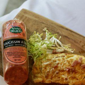Garlic Sausage Omelette